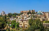 View of modern residential buildings in Jerusalem, Israel.