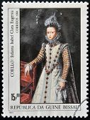 stamp shows draw by artist Coello - Infanta Isabel Clara Eugenia