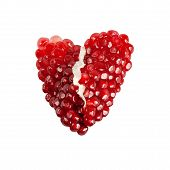 Red Broken Heart Of Pomegranate Seeds