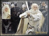 stamp printed in New Zealand shows Gandalf the White from The Lord of the Rings