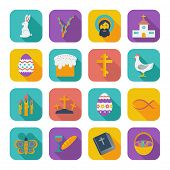 stock photo of flat-bread  - Easter Icons - JPG