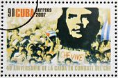 stamp dedicated to 40th anniversary of the fall in combat of Che