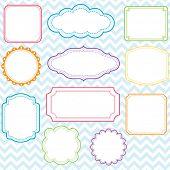 Colorful Frames Design Set - Illustration