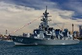 Japanese destroyer JDS Makinami in Sydney