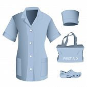 Woman Medical Clothes Set