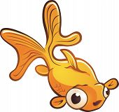 Goldfish Pet Cartoon Character