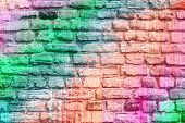 Art graffiti brick wall