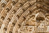 Batalha Monastery. Tympanum, Voussiors and  Archivolts of the Gothic Portal. Masterpiece of the Goth
