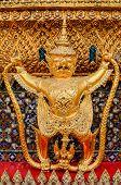 stock photo of garuda  - Garuda Wat Phra Kaew Bangkok Thailand Garuda Wat Phra Kaew Bangkok Thailand - JPG