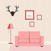 interior flat livingroom vector illustration??????
