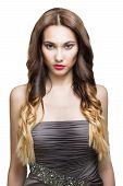 Beautiful Brunette Girl. Healthy Long Brown Hair.