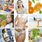 foto of healthy food  - beautiful healthy lifestyle theme collage made from few photographs - JPG