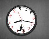 Running Inside Clock On Wall