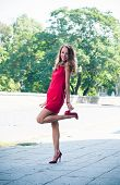 Lady In Red Dress Dancing