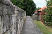 View Along York Wall