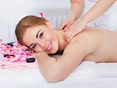 Woman Getting Massage Treatment