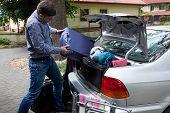 Car Trunk Full Of Luggage