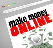 Make Money Online - Web-Bildschirm