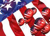 Patriotic Balloons 3D