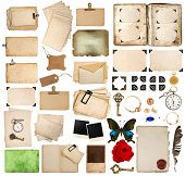 Scrapbooking Elements. Vintage Photo Album, Paper, Corner And Frames