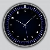 Vector abstract simple round clock