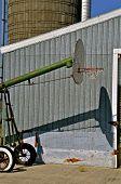 Unique outdoor farm basketball court