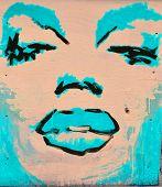 Street art Marilyn Monroe