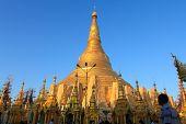 Bagan, Myanmar - Dec 16,2012: People Go To Shwezigon Pagoda For Praying.