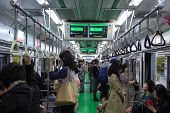 Subway, South Korea Oct 5, 2013: Korean People Use The Subway To Travel To Various Locations.