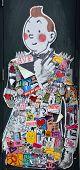 : Street art Montreal Tintin