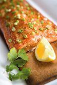 Salmon On A Plank