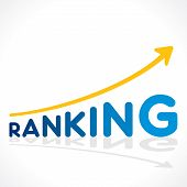 creative ranking word growth graph vector