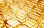 Gold Bars Background 3D