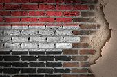 Dark Brick Wall With Plaster - Yemen