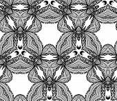 Vector seamless kaleidoscope pattern