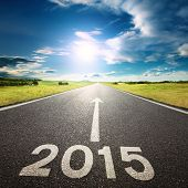 Driving On An Empty Road To New 2015