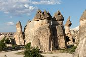 stock photo of goreme  - Rock formations in Goreme National Park - JPG