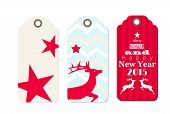 Three Christmas  Tags In Shabby Chic Style