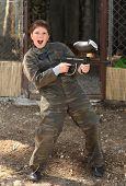 Boy With Paintball Gun