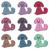 nice scrapbook textile dogs on white