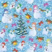 Seamless Christmas background. Vector