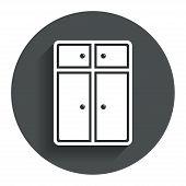 Cupboard sign icon. Modern furniture symbol.