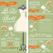 picture of dress mannequin  - Bridal shower invitation set - JPG