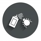 picture of mites  - Bug disinfection sign icon - JPG