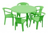 Plastic Table And Chairs - Green