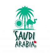 I Love Saudi Arabia in White Background