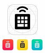 Wireless small keyboard icon.