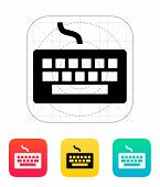 Wired keyboard icon.