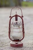 pic of kerosene lamp  - Old kerosene lamp with cobwebs and dust - JPG