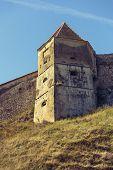 Medieval Tower And Defence Walls Of Rasnov Citadel, Romania